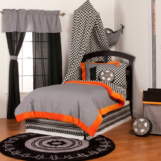 Total fab black and white checkered comforters bedding sets for Black white and orange bedroom