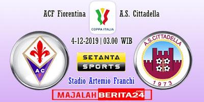 Prediksi Fiorentina vs Cittadella — 4 Desember 2019