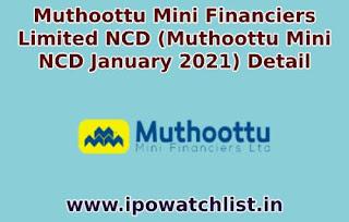 Muthoottu Mini Financiers ncd