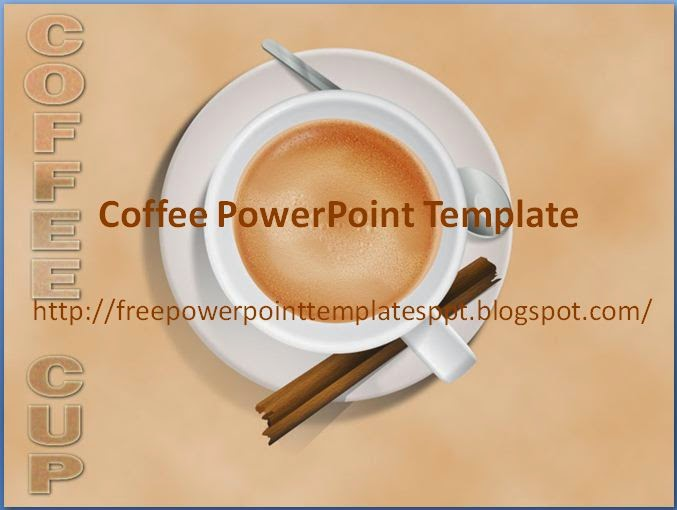 Free Coffee Cup Powerpoint Templates Background In Potx For Slide