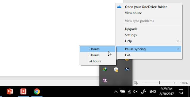 Cara Pause Proses Syncing OneDrive, atau Matikan OneDrive Sementara