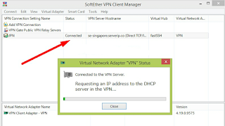 VPN Connected Softether