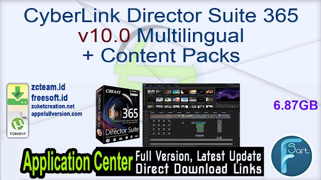 CyberLink Director Suite 365 v10.0 Multilingual + Content Packs