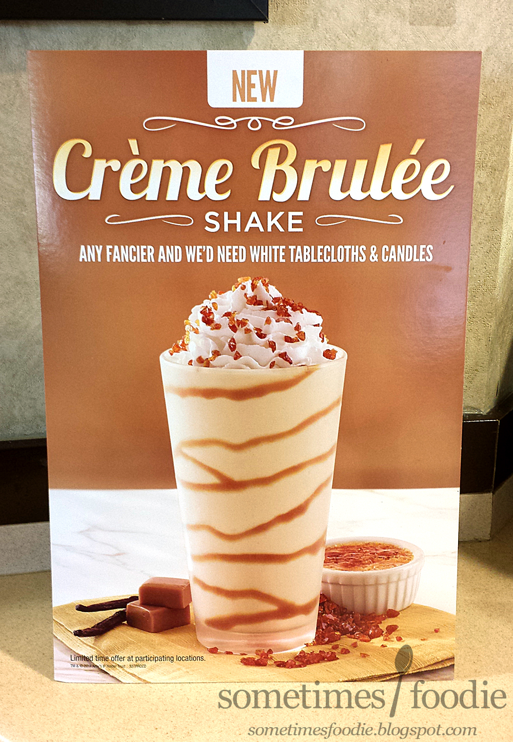 sometimes foodie crème brûlée milkshake arby s