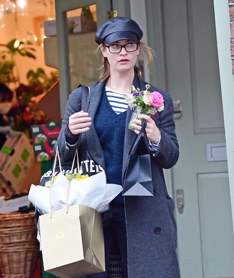 Lily James Shopping in London 23 Mar -2020