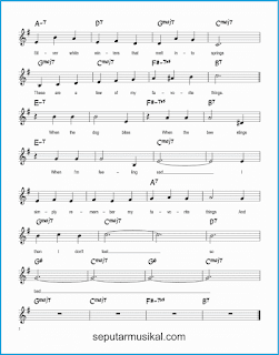 chord my favorite things 2 lagu jazz standar