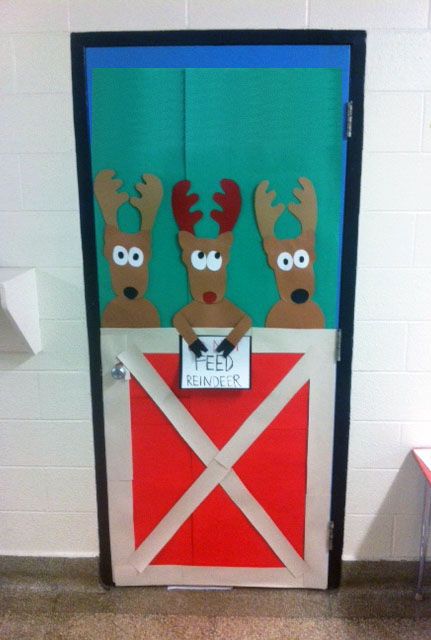 artisan des arts: Christmas themed door
