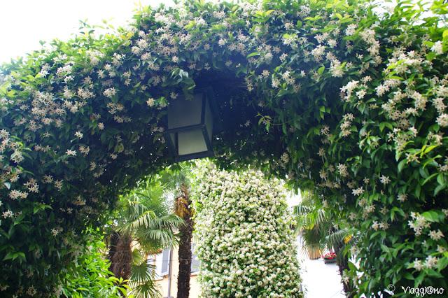 Scorci fioriti del centro storico di Sirmione