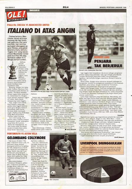 FA CUP CHELSEA VS MANCHESTER UNITED ITALIANO ZOLA AND RYAN GIGGS