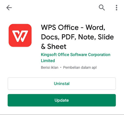 WPS Office di Smartphone Android