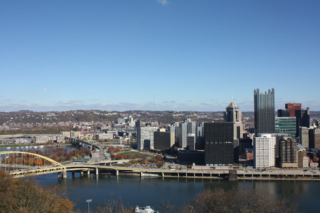 view of Pittsburgh from atop Mt. Washington