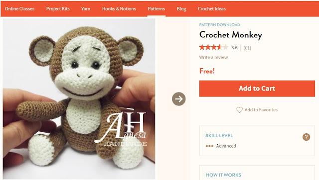 Małpka amigurumi - krok po kroku