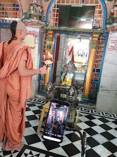स्वामीनारायण मंदिर परिसर में आज रथ यात्रा का आयोजन हुआ