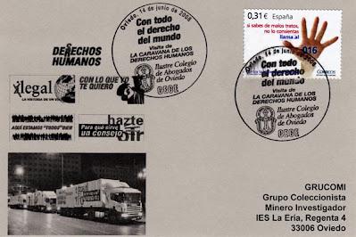 matasellos, caravana, derechos humanos, Oviedo