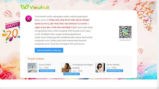 Panduan Mengisi Survey Viewfruit.com, Cara Mengisi Survey Online Viewfruit,