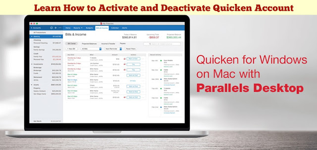 Learn How to Activate and Deactivate Quicken Account Online
