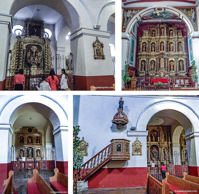 Decoração barroca da Igreja de La Candelária, Bogotá, Colômbia