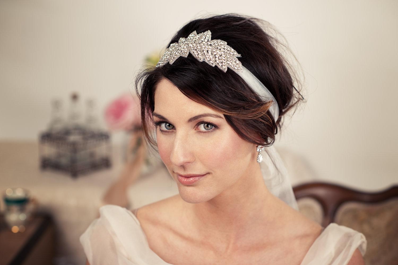 elegant wedding hairstyles with a ribbon
