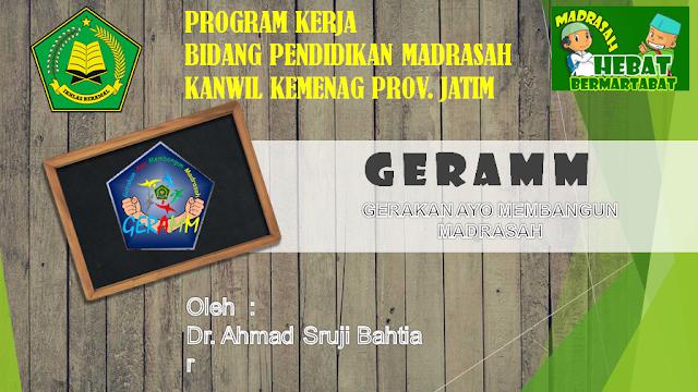GERAMM (Gerakan Ayo Membangun Madrasah) Kemenag Jatim