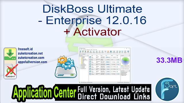 DiskBoss Ultimate – Enterprise 12.0.16 + Activator