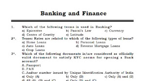 Banking and Finance Question Answers
