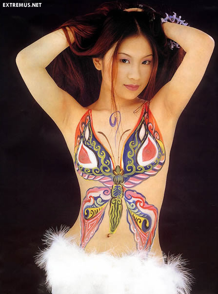 homenge female body painting photos