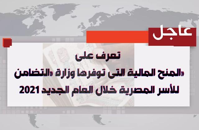 تعرف على المنح المالية التى توفرها وزارة «التضامن» للأسر المصرية خلال العام الجديد 2021