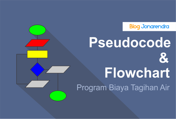 Pseudocode dan Flowchart Program Menghitung Biaya Tagihan Air blog jonarendra