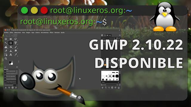 Disponible la nueva versión de GIMP 2.10.22