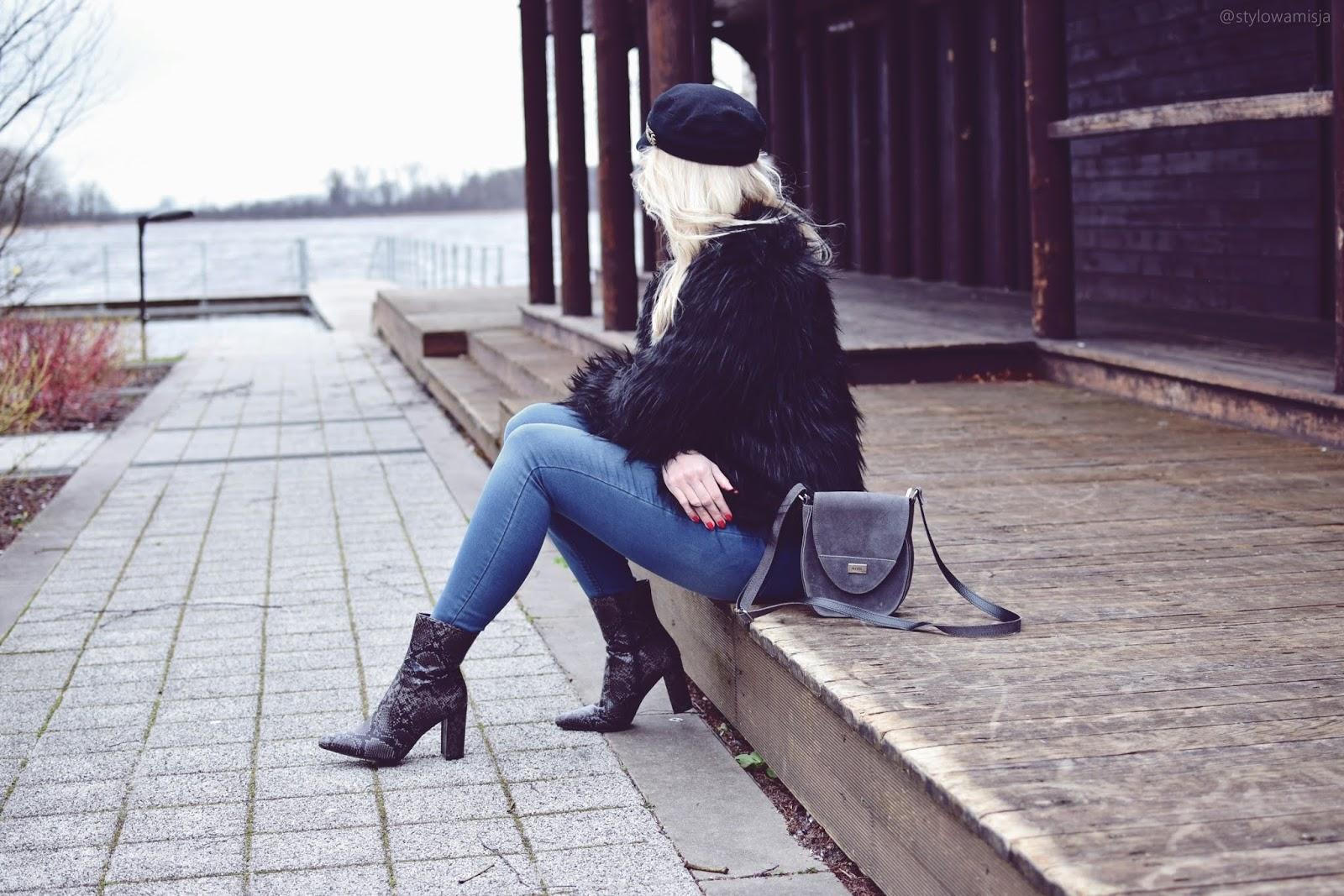 bonprix, bonprix.pl, botki, czasnabuty.pl, futrzak, jeansy, jezioro, moda, spodenkizwysokimstanem, sweter,