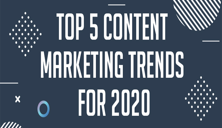 Top 5 Content Marketing Trends for 2020 #infographic