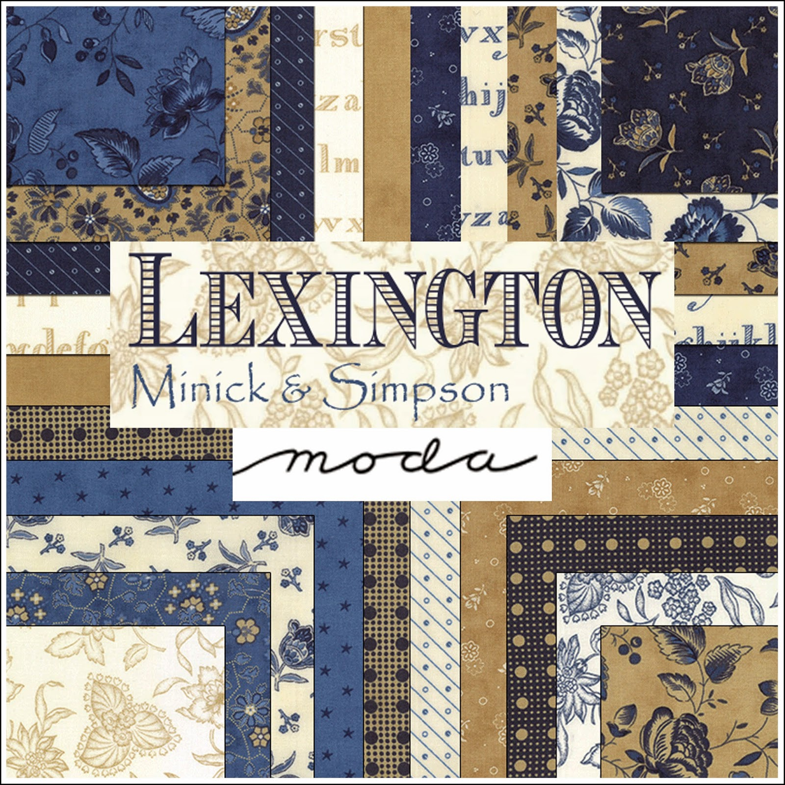 Moda LEXINGTON Quilt Fabric by Minick & Simpson for Moda Fabrics