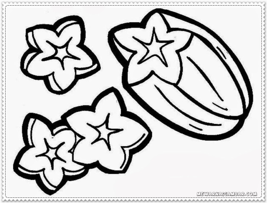 Coloring Pages Of Star Fruit