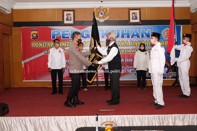 Kapolda Kukuhkan Pengurus Pokdarkamtibmas Bhayangkara Daerah Jambi Periode Tahun 2020 - 2024