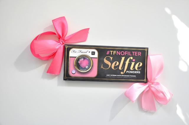 recenzja paletki pudrów too faced #tfnofilter selfie powders