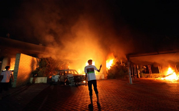 Libyan Embassy Stormed