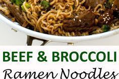 BEEF AND BROCCOLI RAMEN
