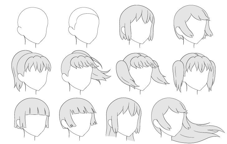 Tampilan gambar rambut anime 3/4