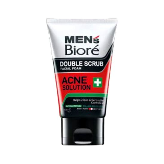 Biore men double scrub