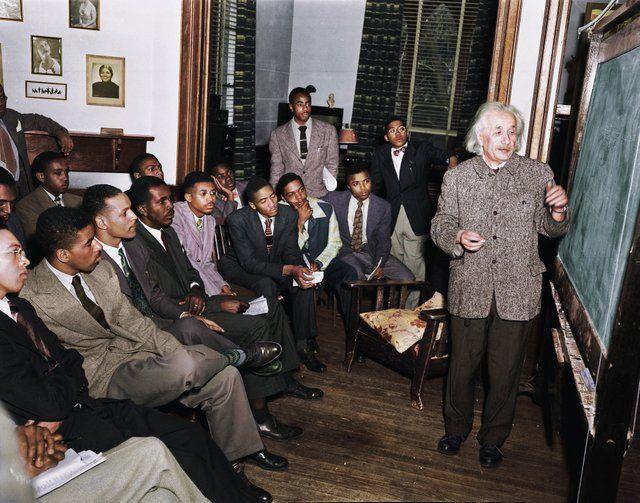 Cuando Einstein dio una clase magistral en una «universidad solo para negros»