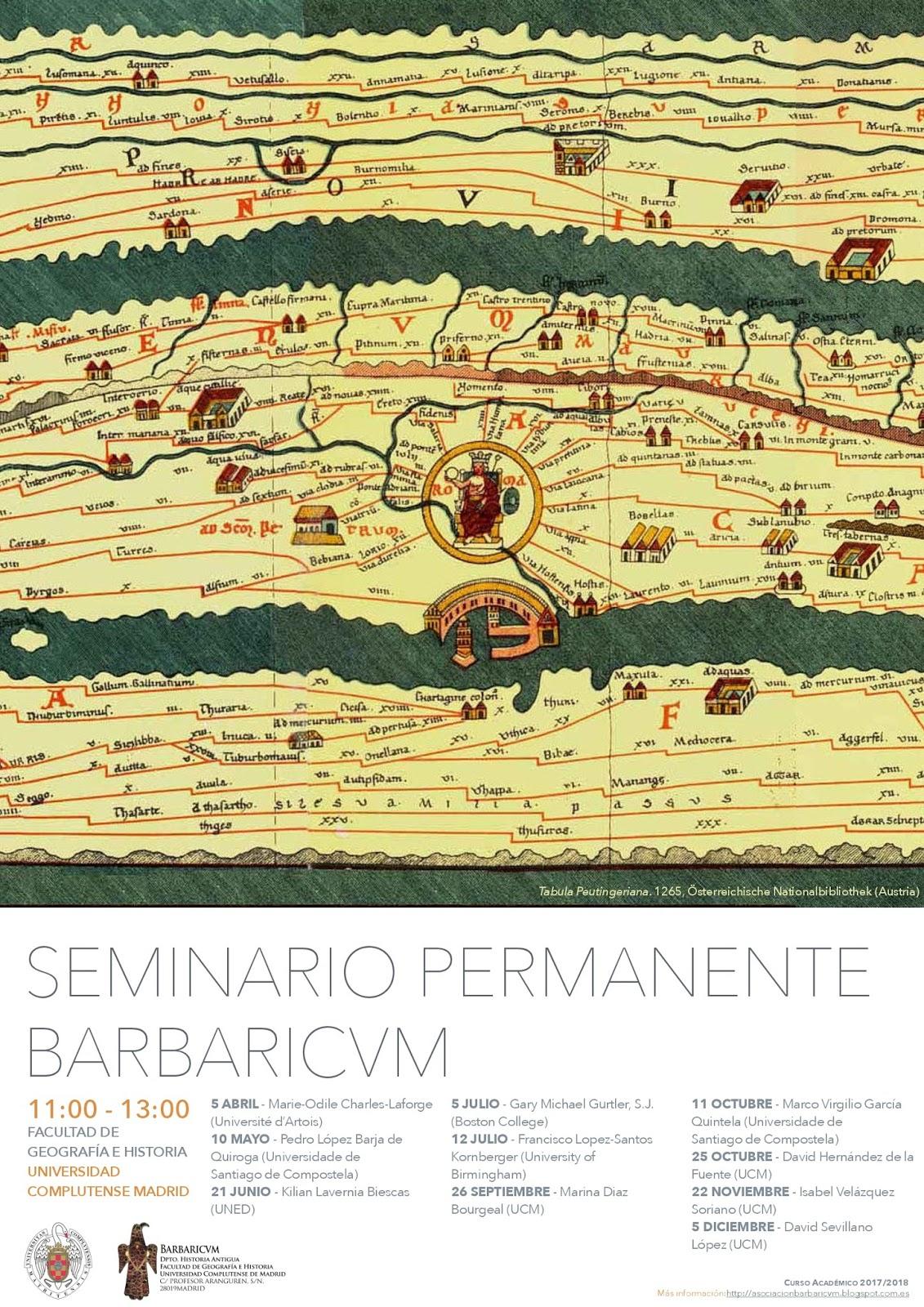 Asociación Barbaricvm: NUEVA ACTIVIDAD: Seminario Permanente Barbaricum