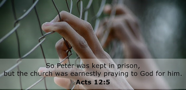 So Peter was kept in prison, but the church was earnestly praying to God for him.