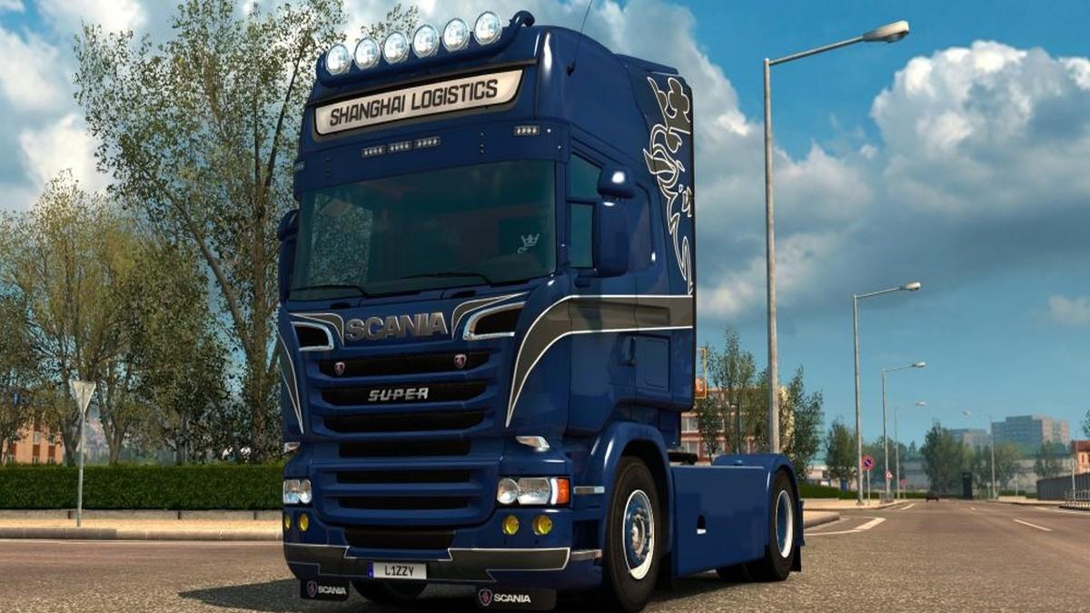 Scania RJL Shanghai Logistics skin