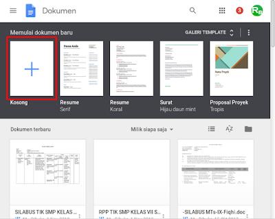 Cara Membuat Dokumen Word Secara Online dengan Google Docs