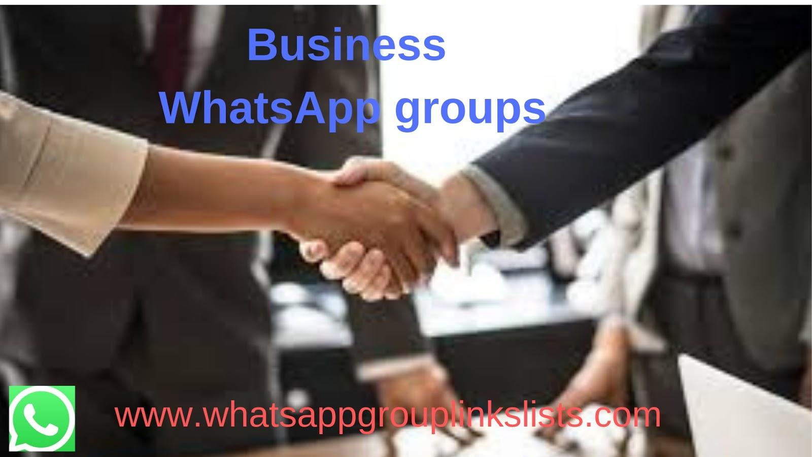 Join Business WhatsApp Group Links List