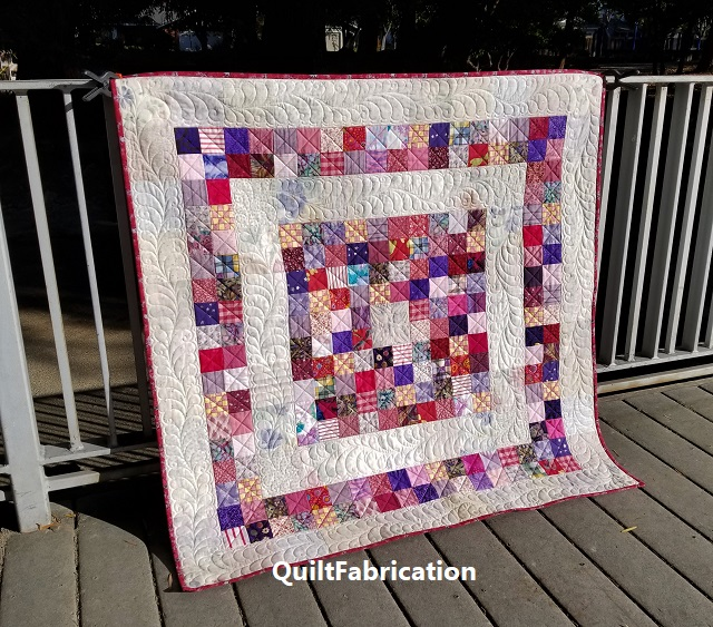 Becharmed baby quilt by QuiltFabrication