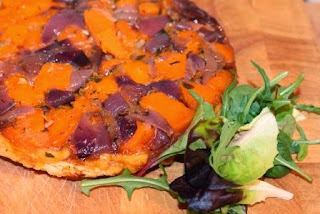 http://www.lifeofpottering.co.uk/2014/04/butternut-squash-red-onion-tarte-tatin.html