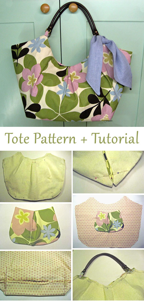 City Tote Bag Tutorial and Pattern