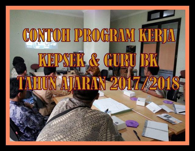 Contoh Program Kerja Kepala Sekolah & Guru BK SMP/MTs Tahun Ajaran Baru