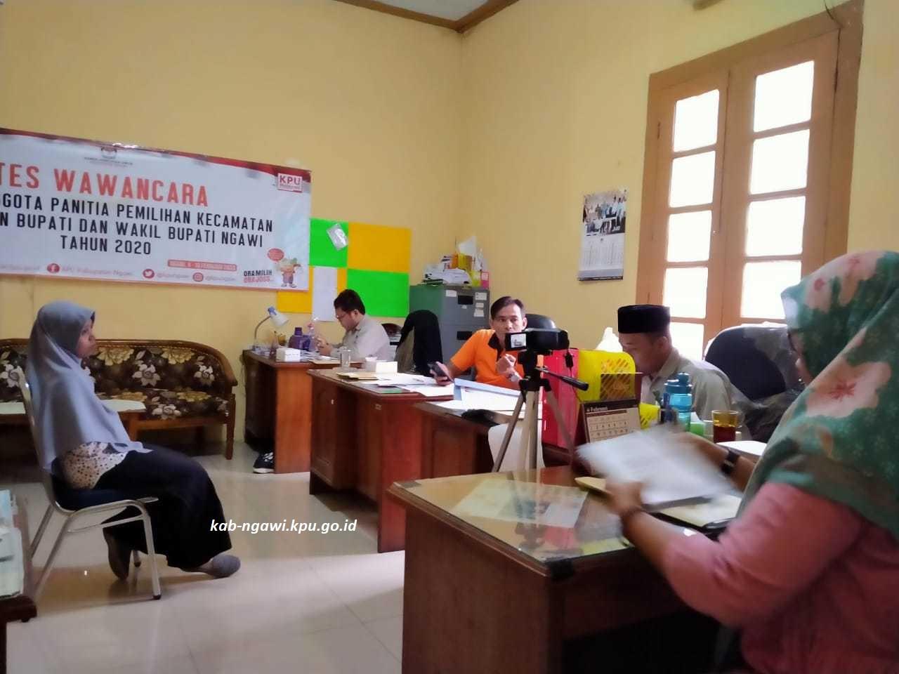 Wawancara Hari Pertama PPK, KPU Ngawi Jadwalkan Untuk 70 Peserta